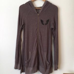 FREE PEOPLE ANGEL WING HOODIE  JACKET SIZE SMALL